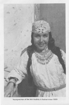 Young women of the Ait Hadifa (Rif) in Festival dress (1953)