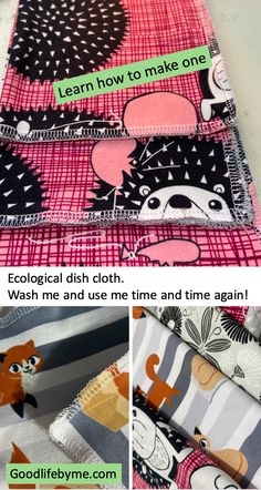 Reuse your old T-shirts, make an ecological dish cloth Check this one out! A small project for you. Make use of old fabrics and brighten your kitchen. #ecological  #dishcloth #diy #homeproject #reusefabrics #reusetshirt #naturelover #giftidea Love Your Life, Make Your Own, Life Is Good, How To Make, Dishcloth, Old T Shirts, Ecology, Reuse, Home Projects