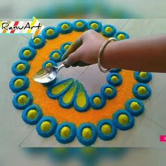 Easy Rangoli Patterns, Easy Rangoli Designs Videos, Easy Rangoli Designs Diwali, Indian Rangoli Designs, Rangoli Designs Latest, Rangoli Designs Flower, Free Hand Rangoli Design, Small Rangoli Design, Rangoli Border Designs