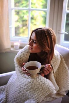 That is one big ass cup of coffee! Love the blanket as well. Cozy mornings are made of these.