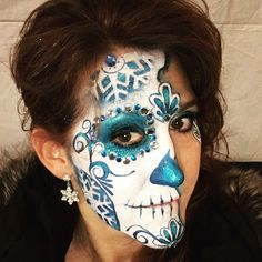 ❄️Frozen Sugar Skull❄️ Face Painting by Chantel