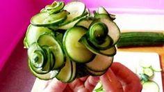 Art In Cucumber Show-Fruit Carving RoseTutorial #CucumberArt #FruitArt #RoseFood