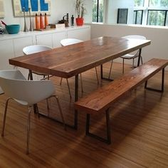 (3) Dining Room -- Dining Table: Wood with white chairs are very common. Does nothing else match rustic wood?
