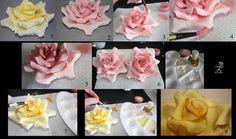 Nagy rózsa készítése   HV: cukorpaszta ételfesték ételfesték por fondant formázó 10 db-os szett Vásárolj meg mindent egy helyen a GlazurShopban! http://shop.glazur.hu