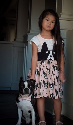 {New Pattern} Little Lizard King - Ani-Mazing Suspender Skirt  Pattern with Boston Terrier