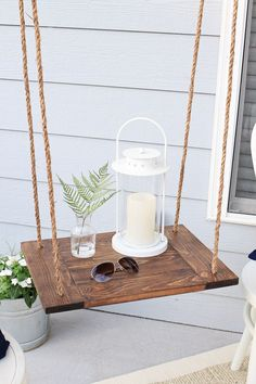 DIY Hanging Table! Click for the free build plans!