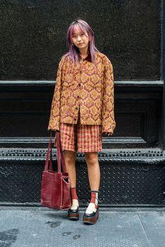 Mode Outfits, Fashion Outfits, Womens Fashion, Fashion Project, Cool Street Fashion, New York Fashion Week Street Style, Vintage Shorts, Vogue Fashion, Facon