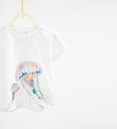 Image 3 of Jellyfish T-shirt from Zara