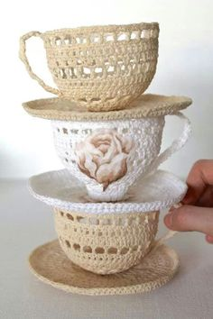 Crochet Tea Cups