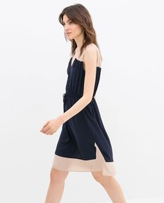 ZARA - WOMAN - COLOR BLOCK DRESS WITH BELT
