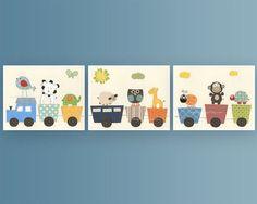 Art For Kids // Giraffe Nursery Kid Room Decor // by DesignByMaya, $70.00