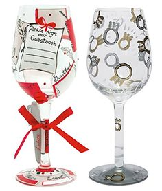 Lolita Wine Glasses  Wedding Toast and Guest Book Bundle ** Want additional info? Click on the image.