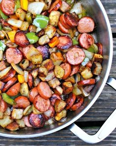 Kielbasa, Pepper, Onion And Potato Hash #howto #tutorial