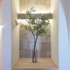 Beautiful Flowers, Zen Decor, Entrance, Decor, Wall Niche, Office Plan, Interior, Natural Interior, Home Decor