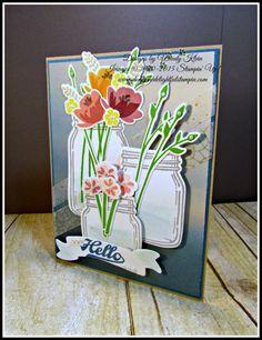 Stampin' Up! MOJO453, Jar of Love, Everyday Jars Framelits, Bunch of Banners framelits, Serene Scenery DSP Stack, Aqua Painter Clear Wink of Stella, Winter Wonderland Designer Washi Tape (ret.), Pearls, designed by Wendy Klein for Doggone Delightful Stampin'
