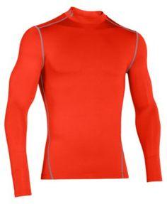 UNDER ARMOUR Under Armour Men's ColdGear® Mock Neck Long-Sleeve T-Shirt. #underarmour #cloth #