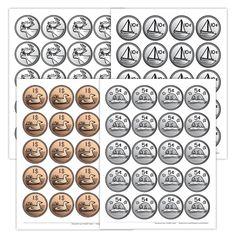 Feuilles de pièces de monnaie