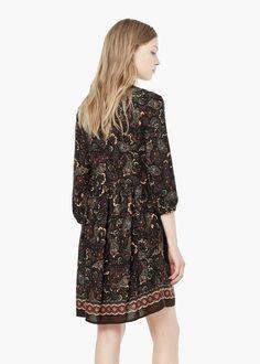 Sukienka z kwiatowym wzorem   MANGO