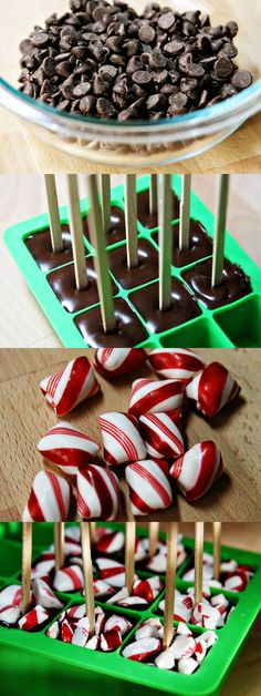 (handmade holiday party) diy hot chocolate on a stick & other neighbor gifts (Christmas Treats For Gifts) Christmas Sweets, Noel Christmas, Christmas Goodies, Food Gifts For Christmas, Christmas Ideas, Handmade Christmas, Holiday Gifts, Chocolate Sticks, Hot Chocolate Bars