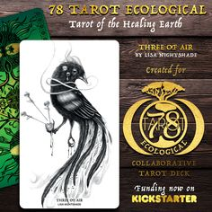 The 78 Tarot Project excitedly returns to Kickstarter to present to you their 7th collaborative Art deck - 78 Tarot Ecological, Tarot of the Healing Earth. A deck created to illustrate the effects of climate change on our Mother Earth and how we can help her heal. Carnival Card, Card Drawing, Climate Change Effects, Collaborative Art, Tarot Decks, Astrology Signs, Printable Coloring Pages, The Conjuring, How To Raise Money