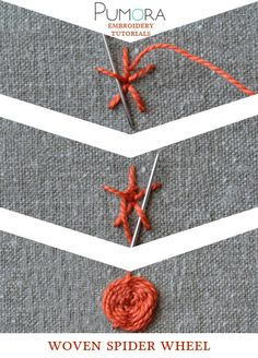 Pumora's embroidery stitch-lexicon: the woven spider wheel