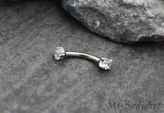 Nipple Bar Eyebrow RingNipple JewelryDaith Jewelry by MyBodiArt
