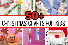 Over 50 Christmas Crafts for Kids - so many fun ideas! Christmas Craft Projects, Christmas Crafts For Kids, Simple Christmas, Holiday Crafts, Holiday Fun, Christmas Trees, Christmas Decorations, Craft Activities For Kids, Preschool Crafts