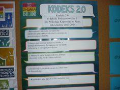 W dzisiejszym wpisie prezentujemy nasz kodeks po aktualizacji. Zapraszamy do lektury. Pełne brzmienie Kodeksu 2.0 w Szkole Podstawowej nr 1 im. Mikołaja Kopernika w Piszu rok szkolny 2013/2014: