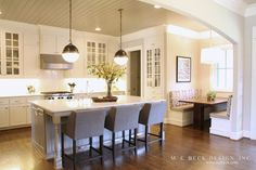 Brass lighting with polished chrome hardware!  Live Beautifully: Dallas Project | The Kitchen