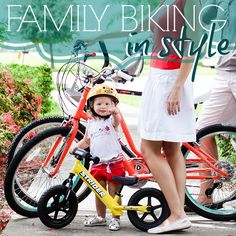 Getting active as a family is a wonderful bonding activity that is both fun and healthy for everyone! We have put together a full guide of gear from bikes to baby seats to accessories that will get you on the road to a family biking tradition, in style.    At Daily Mom, we love to encourage (and e