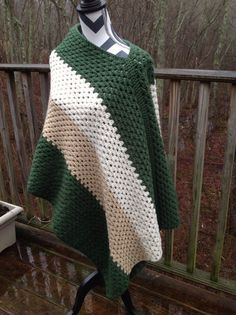 Poncho. Asymmetrical poncho. Womans by woodyoucouldyou22 on Etsy