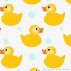 Rubber Duck Seamless Pattern - Background Labs