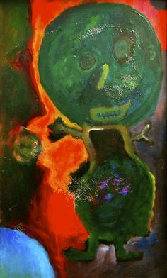"Henrik Diamant ""Green on Orange No 5"""