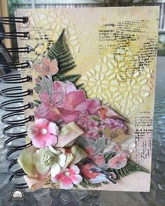 Anita Enright created this absolutely beautiful journal using our Ultimate Crafts LAquarelle Collection and Couture Creations Anna Griffin Mixed Media products.  Visit our blog for Anitas tutorial #linkinprofile #ArtdecoCreations #UltimateCrafts #LAquarelle #CoutureCreationsAus #annagriffin #mixedmedia #fussycutting