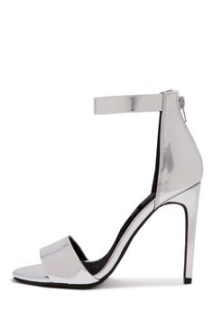 Jeffrey Campbell Shoes MERYL Heels in Silver Mirror