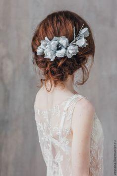 Hair Accessory with Silken Flowers | Украшение из шелковых цветов – купить в интернет-магазине на Ярмарке Мастеров с доставкой