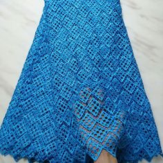 2020 Latest blue African French Lace Fabric, High Quality Guipure Lace Chemical Lace Fabric For Wedd Fabric Beads, Lace Fabric, Bleu Royal, Royal Blue, Water Soluble Fabric, Suit Pattern, Nigerian Lace, African Lace, White Embroidery
