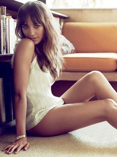 Rashida Jones, model, actress, daughter of African-American music producer mogul  Quincy Jones.