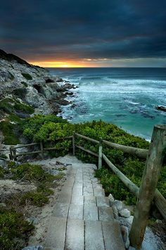 Walker Bay Nature Reserve Walkway South Africa.