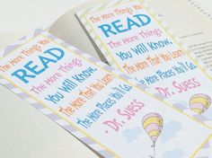 Oh The Places You'll Go Inspired Book Mark by EmeraldCityPaperie