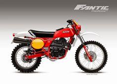 Una moto con il look di una delle regine della regolarità anni 70, però con un motore a quattro tempi raffreddato ad aria, semplice e niti...