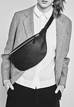 Need Love Want: Sustainable and Ethical Fashion I Found This Month- Christina Fischer upcycled leather bag- Leather Fanny Pack, Leather Bag, Black Leather, Minimalist Bag, Minimalist Fashion, Womens Fashion Online, Latest Fashion For Women, Medium Bags, Fashion Labels