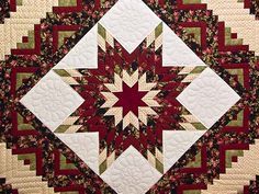 lone star quits | Lone Star Log Cabin Quilt -- superb skillfully made Amish Quilts from ...