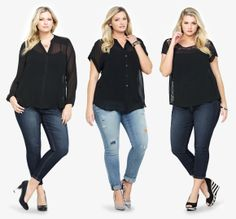 #StyleTip Easy go-to way to rock your fave pair of jeans... Top them off with a black chiffon top & it's like a blank canvas for your favorite jewelry & shoes :)