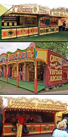 After my last two posts about fairground architecture and Midway rides I had to share this amazing group of working vintage and antique.
