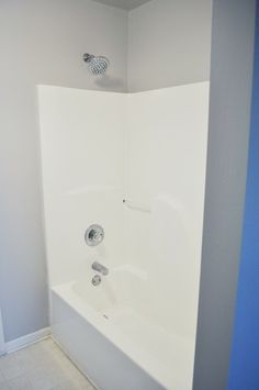 how to make your nasty yellow fiberglass tub look new for 50 im totally doing - Shower Surround