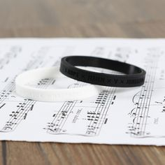 BTS / Bangtan Boys Black & White Silicone Bracelet Set