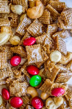 Sticky Sweet-and-Salty Chex Mix (Christmas Crack) from The Food Charlatan