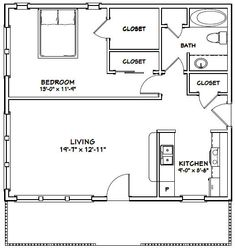 PDF house plans, garage plans, & shed plans. 1 Bedroom House Plans, Pool House Plans, Small House Floor Plans, Small Tiny House, Tiny House Design, Small Homes, Garage Plans, Shed Plans, In Law House