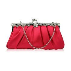 KCMODE Ladies Red Vintage Style Soft Evening Clutch Bag ($22) found on Polyvore
